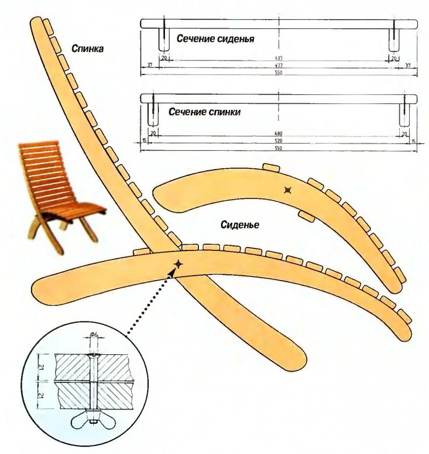 Кресло-качалка: как сделать своими руками из фанеры: фото, чертежи и ход работы » интер-ер.ру