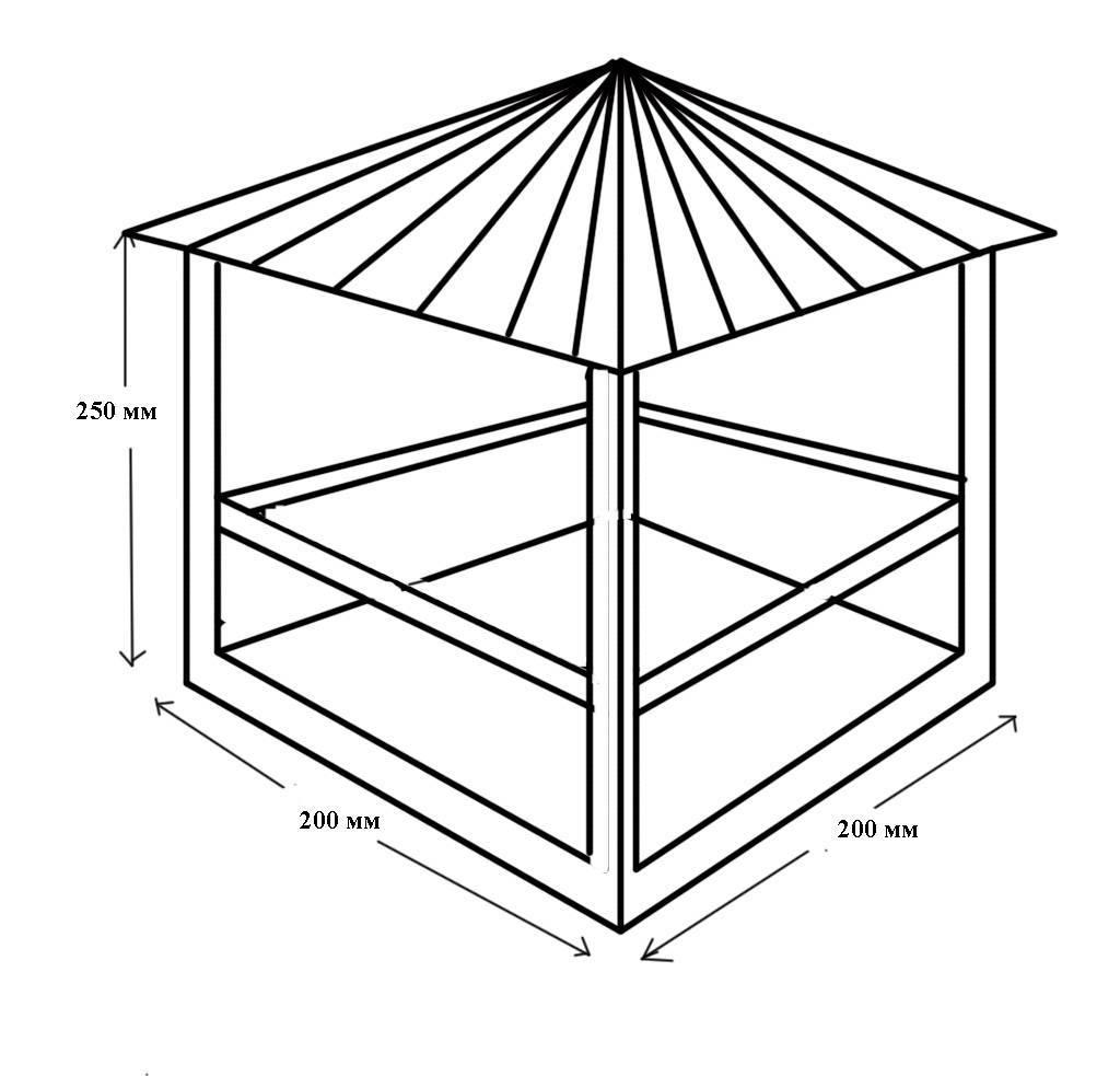 Беседки из металла: чертежи, фото и подсказки по возведению