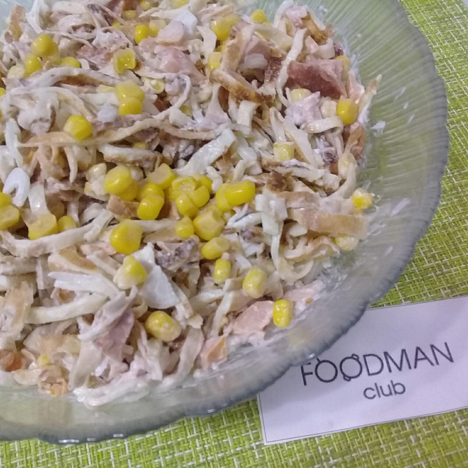 Салат из яичных блинчиков – 6 очень вкусных рецептов