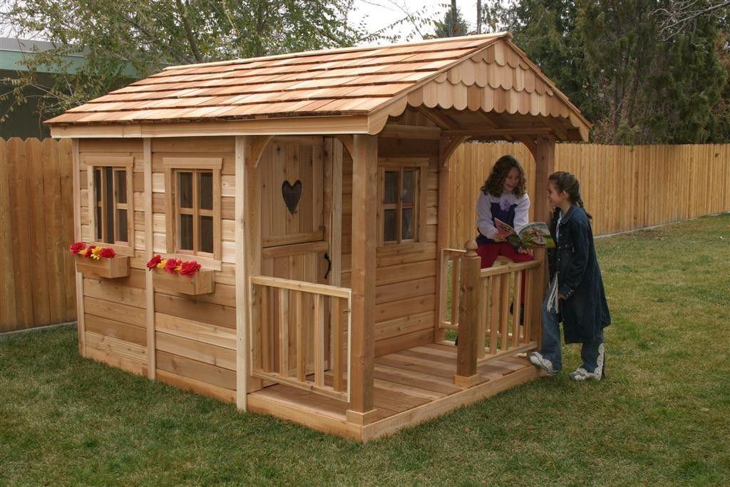 Детский домик своими руками из дерева на даче: фото
