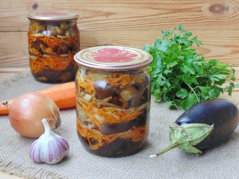 Баклажаны квашеные с морковью, зеленью и чесноком на зиму