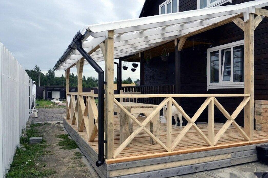 Как пристроить террасу к дому просто и быстро своими руками? 110 фото и видео мастер-класс постройки террасы