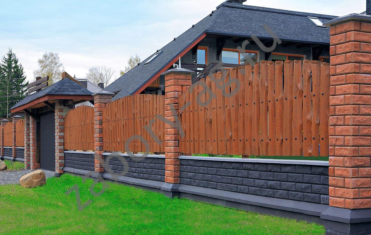 Комбинированные заборы для дачи: фото деревянных и других ограждений, этапы строительства своими руками
