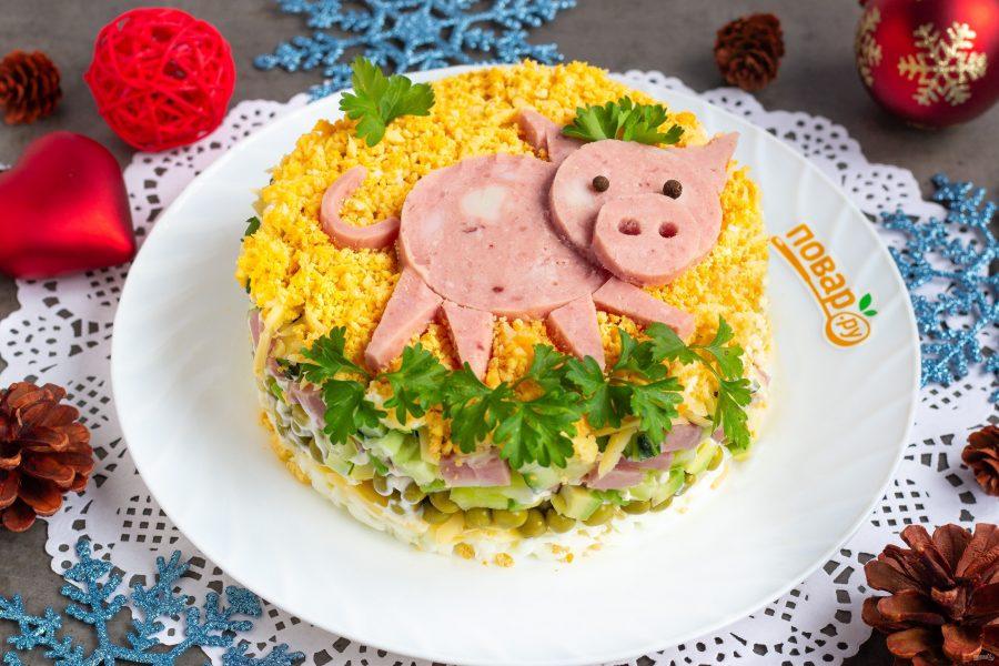 Салат в виде свиньи на новый 2019 год — 5 новых и простых рецептов