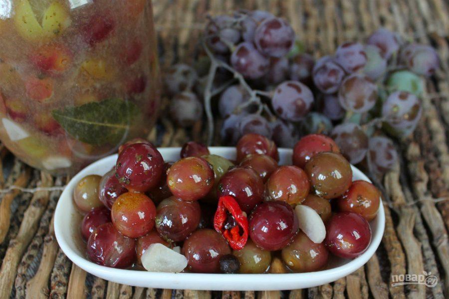 Маринованный виноград на зиму — пошаговый рецепт с фото