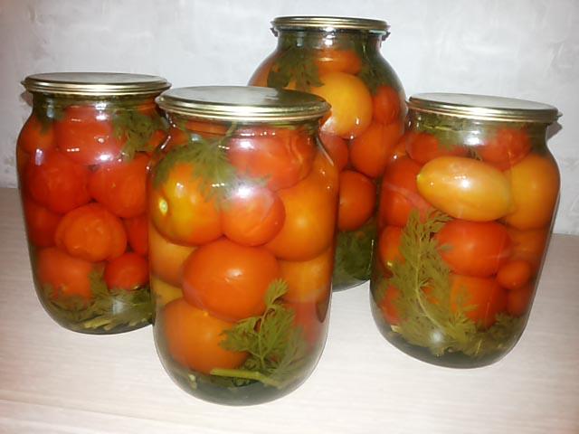 Помидоры с морковной ботвой на зиму - рецепты на 1 литровую банку, 2х и 3х