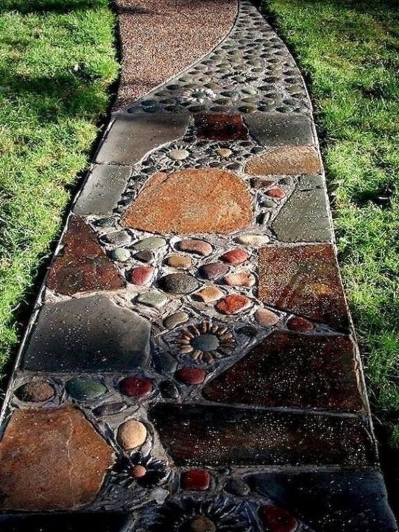 Дорожки из камня своими руками на даче: как сделать и как укладывать