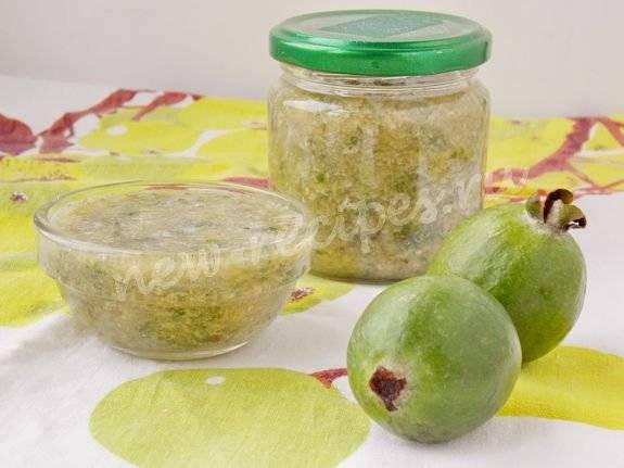 Фейхоа: рецепты приготовления на зиму (варенье без варки, компот, настойка, фейхоа протертая с сахаром)