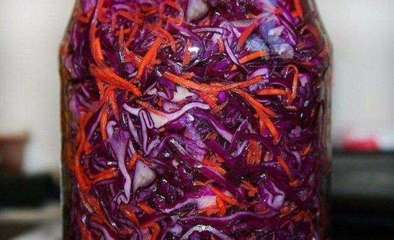 Маринованная красная капуста быстрого приготовления