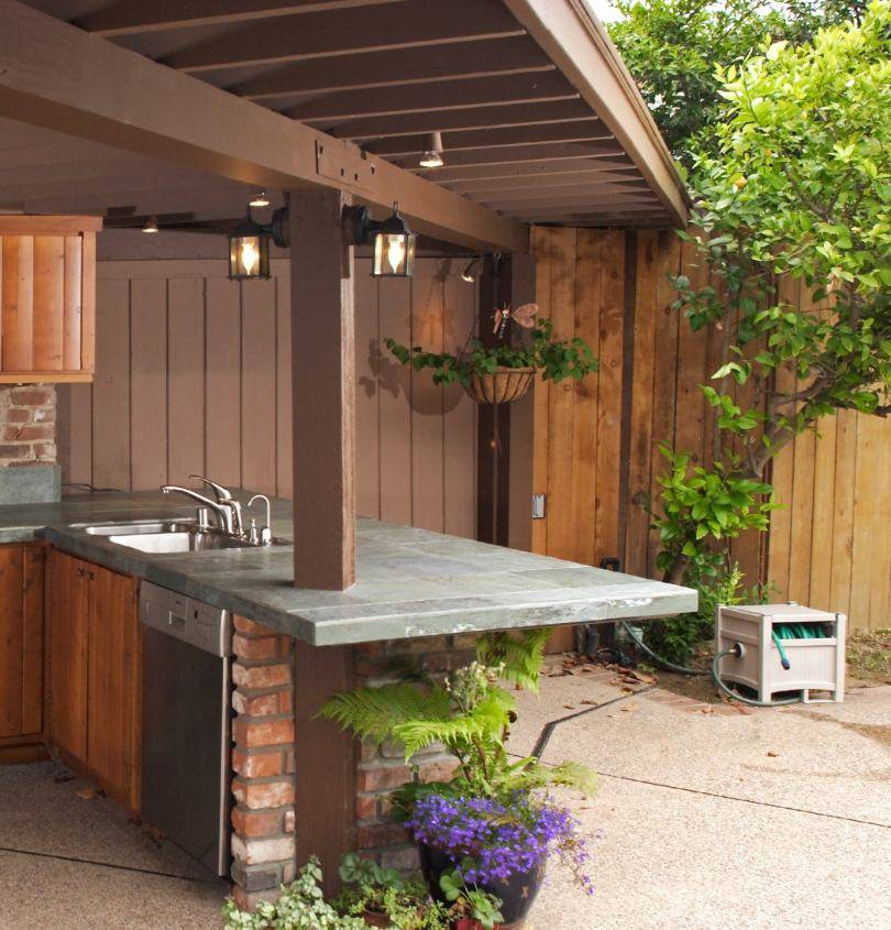 Строительство летней кухни на даче - 125 фото лучших вариантов оформления и размещения