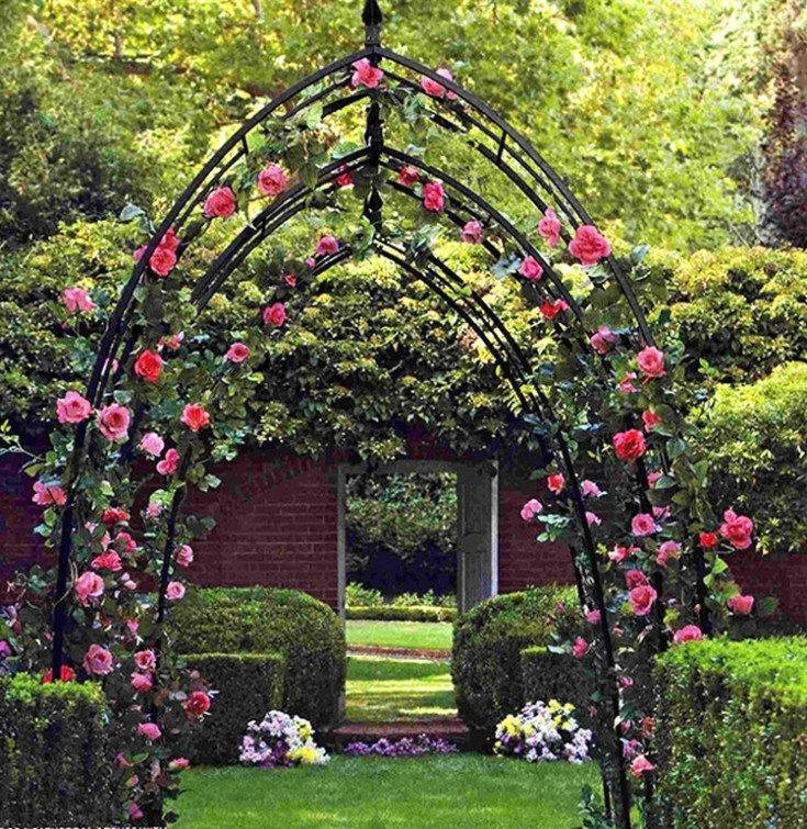 Опоры для роз, шпалера, пергола - подпорки для плетистых роз