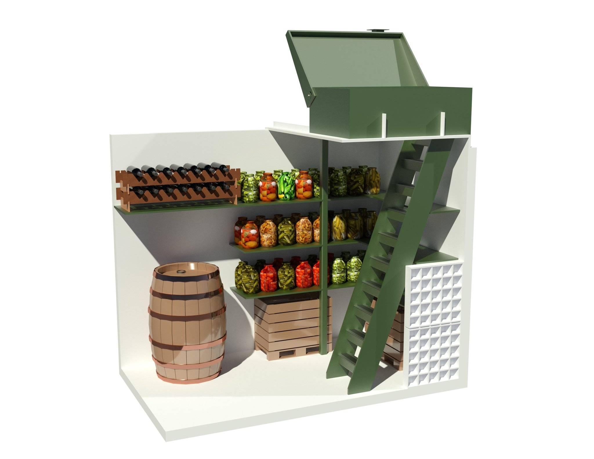 Пластиковый погреб для хранения овощей, технические характеристики, отзывы, фото и цены