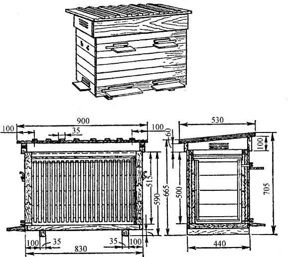 Ульи для пчел: виды, конструкции и характеристика