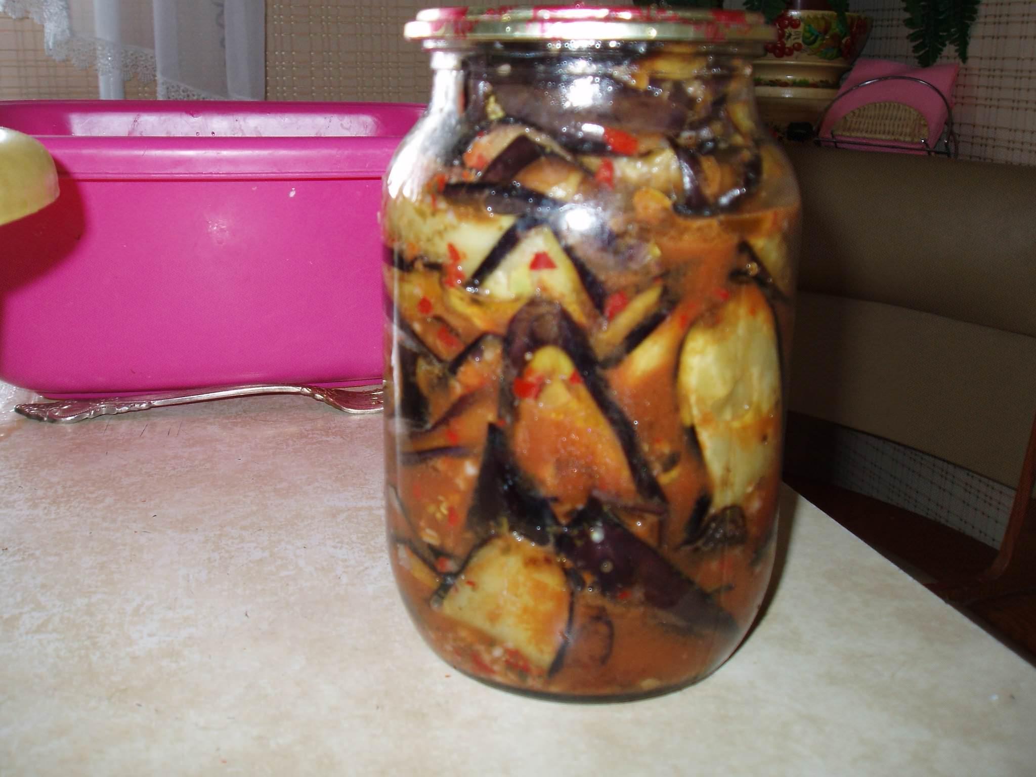 Баклажаны с помидорами и чесноком на зиму - рецепты салатов и закусок для заготовки