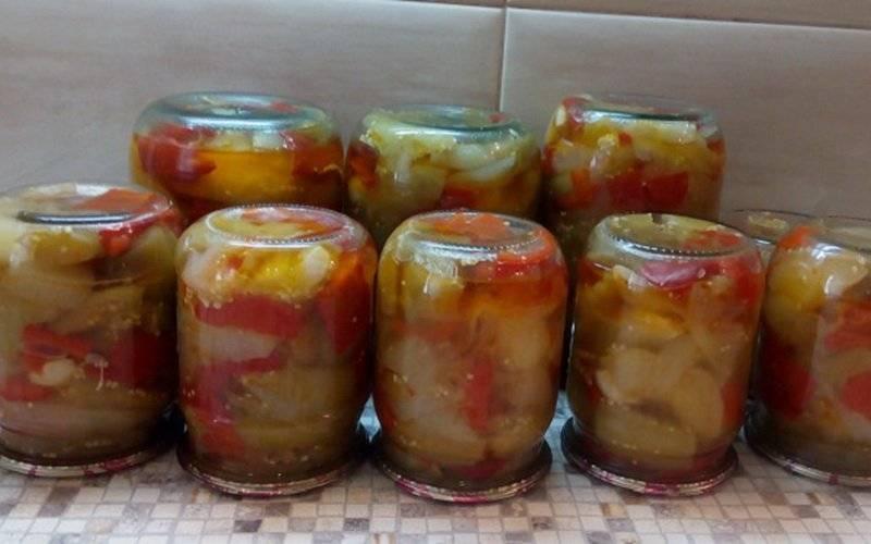 Салат десятка - приготовление из баклажан на зиму пошагово с фото