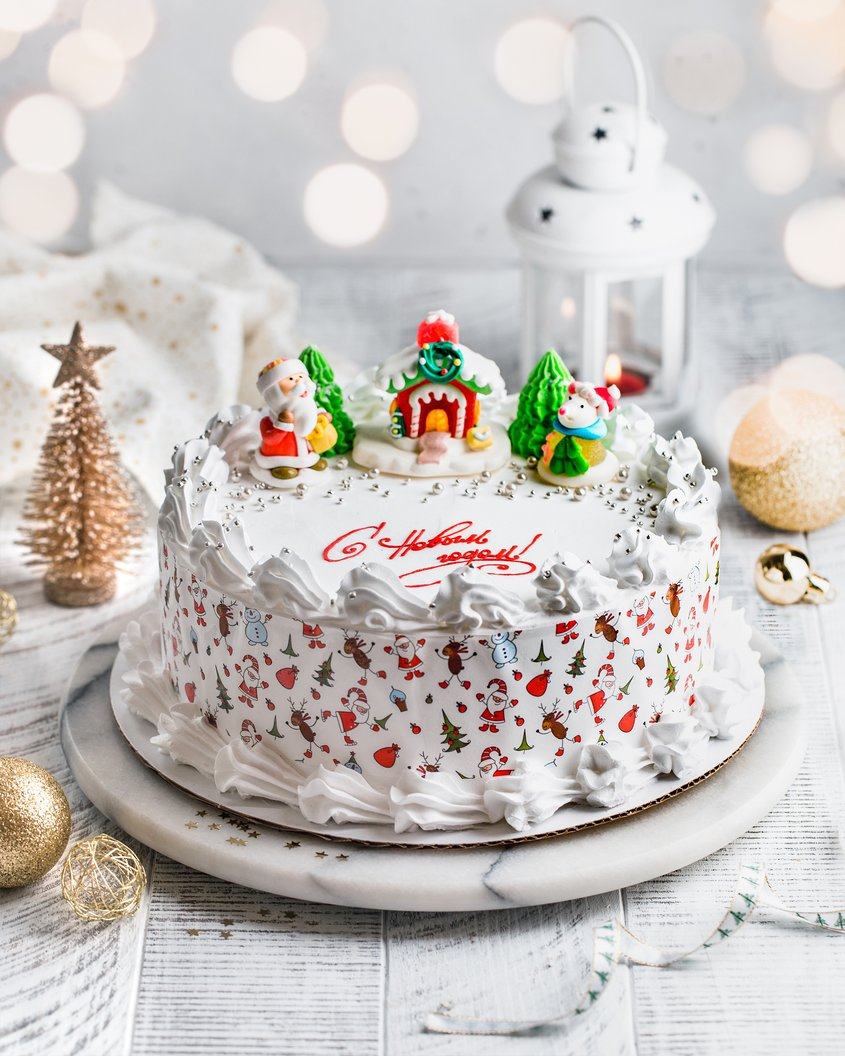 Как испечь и украсить торт на новый год. рецепты вкусных новогодних тортов с фото, описанием и видео