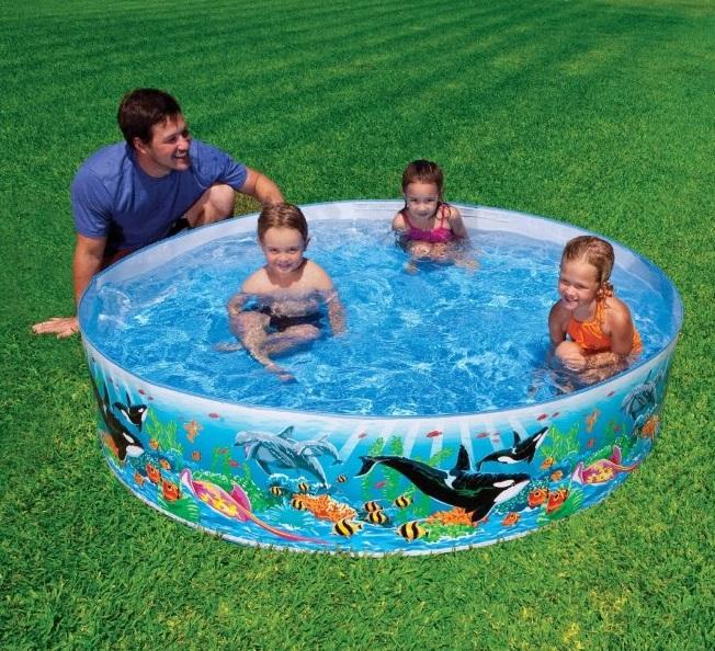 Что подложить под надувной бассейн, на что лучше поставить детский на даче, что можно подстелить на землю, траву во дворе, как подготовить своими руками?