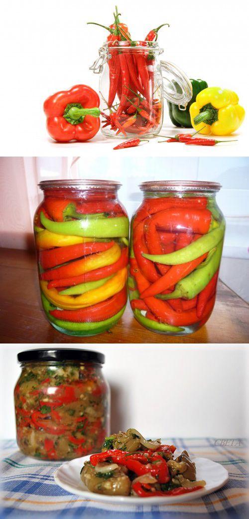 Маринованный острый перец: рецепты на зиму с фото пошагово