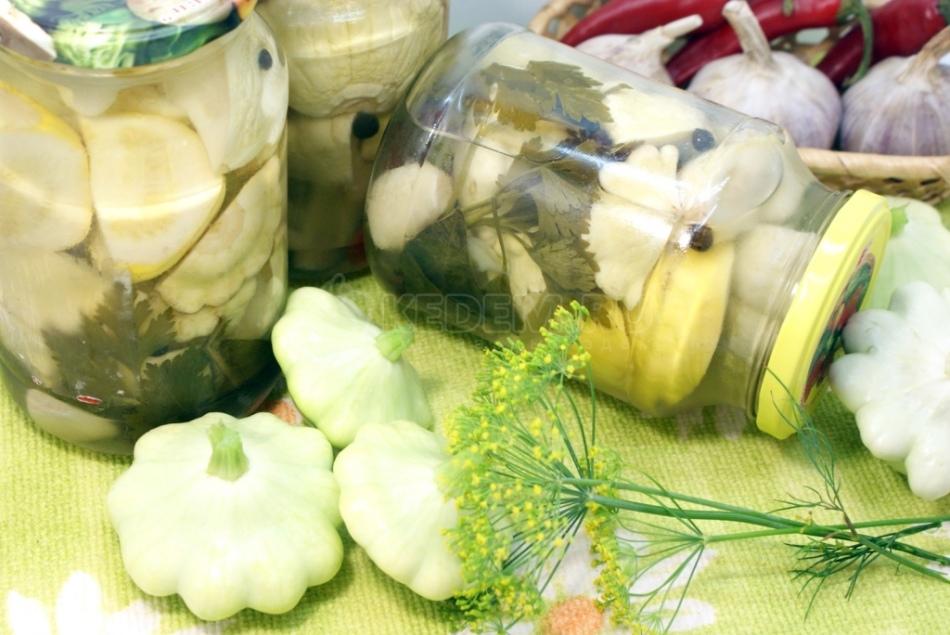 Подборка рецептов соленых патиссонов на зиму
