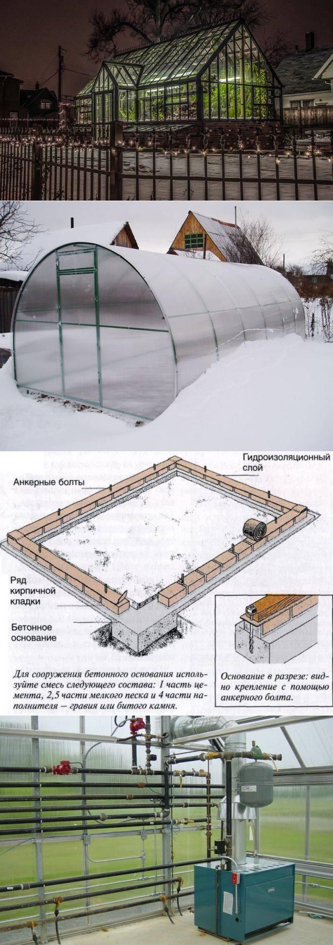 Отопление теплицы из поликарбоната зимой: методы, их особенности, видео и создание своими руками