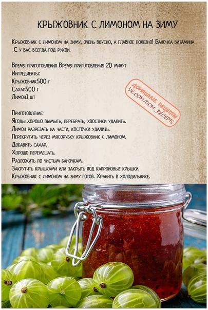 Варенье из крыжовника— рецепты заготовок из записной книжки