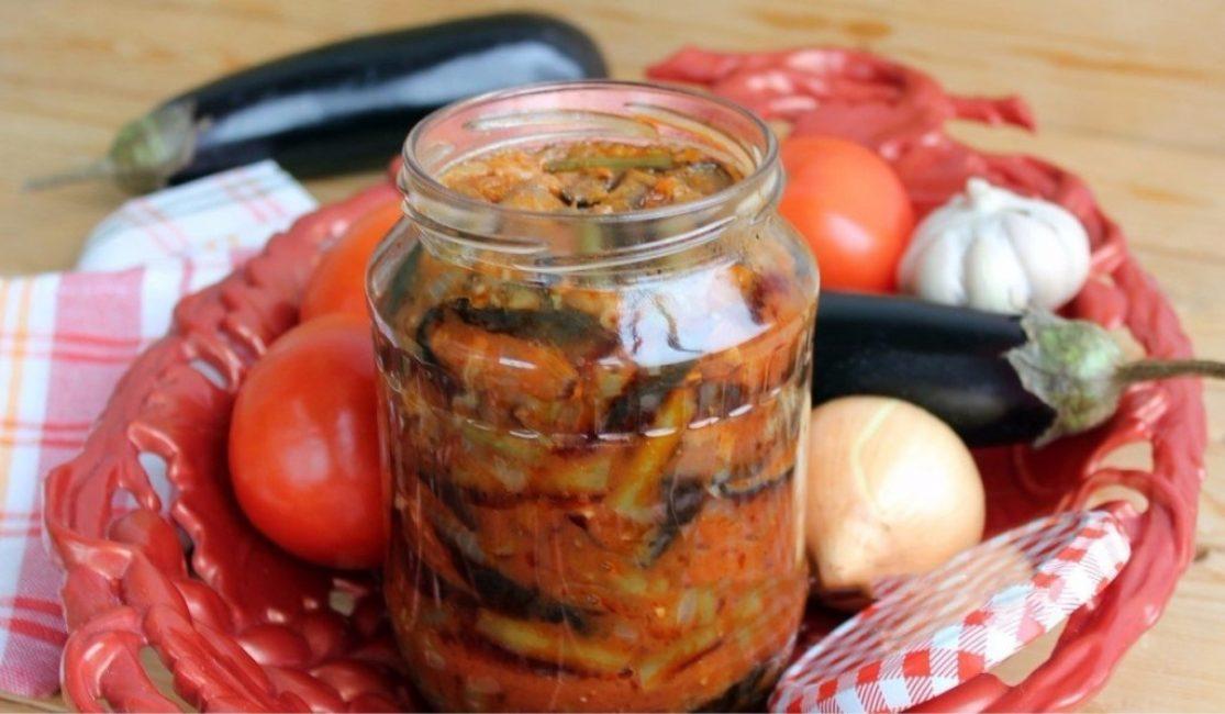 Салат баклажаны с фасолью на зиму: рецепт с фото, пошаговое приготовление