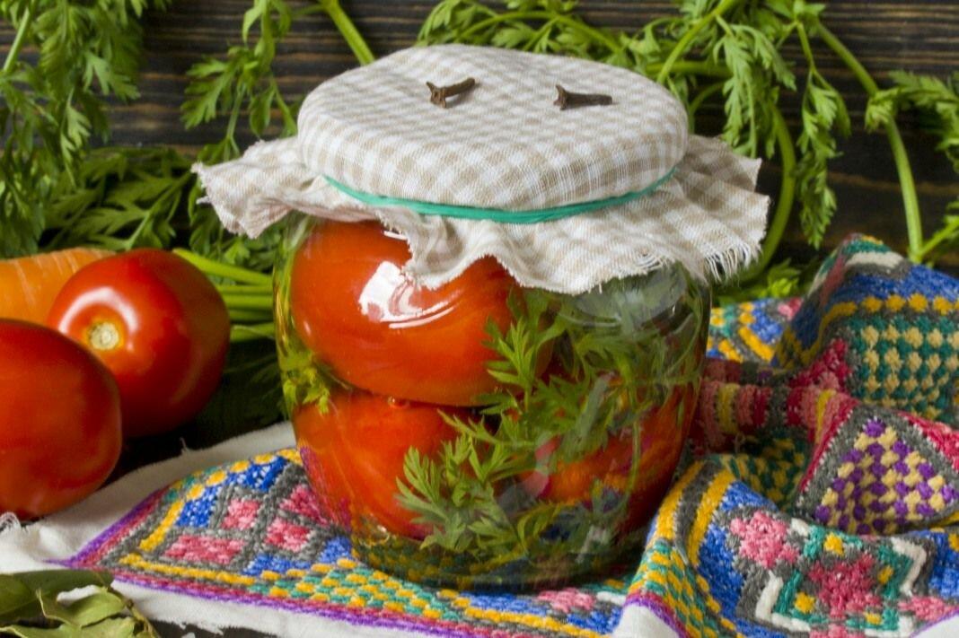 Помидоры с морковной ботвой на зиму – рецепты