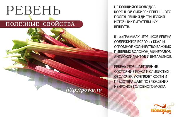 Полезные свойства ревеня на supersadovnik.ru