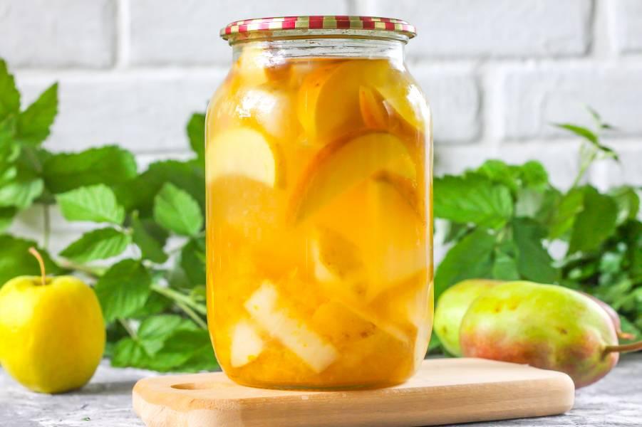 Компот из яблок на зиму - 9 простых рецептов