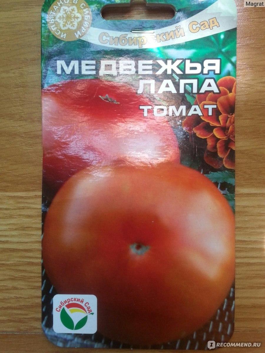 Описание сорта томата медвежий след и его характеристика