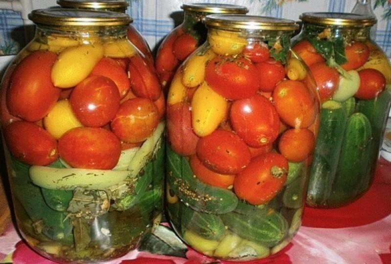 Ассорти из огурцов и помидоров на зиму - очень вкусные рецепты маринования