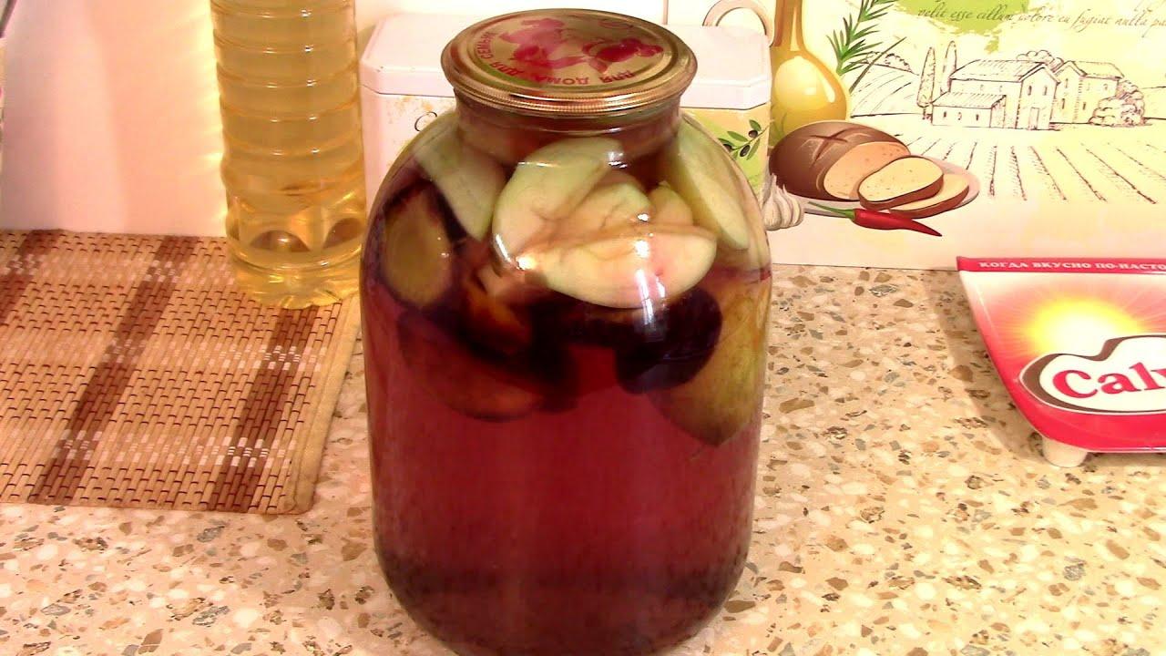Компот из груш и слив на зиму - рецепты приготовления напитка со стерилизацией и без стерилизации, видео