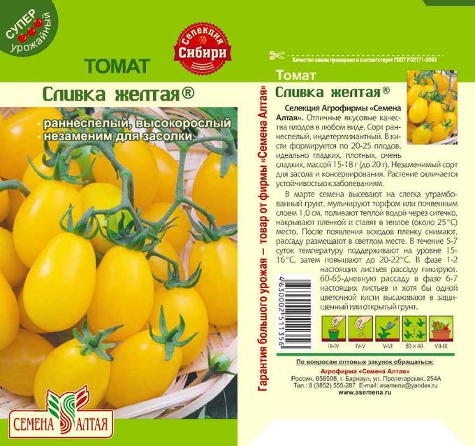 Томат 'желтый шар' — описание сорта, характеристики
