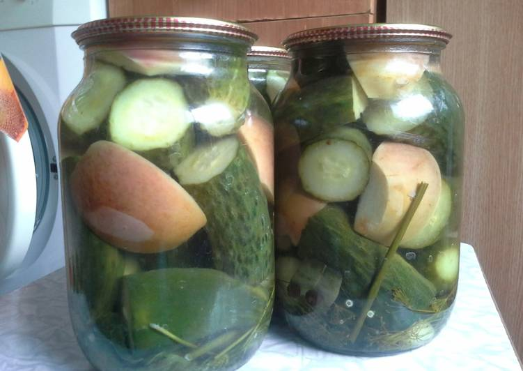 Огурцы в яблочном соке на зиму: рецепты консервирования с фото и видео
