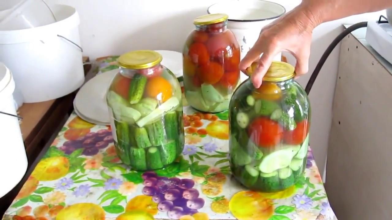 Рецепты ассорти из огурцов и помидоров на зиму