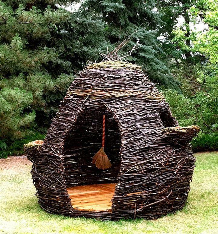 Шалаш для детей своими руками – самые простые идеи, строим домик на дереве