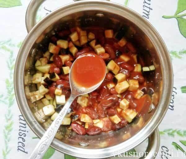 Рецепты салатов из баклажан с фасолью на зиму