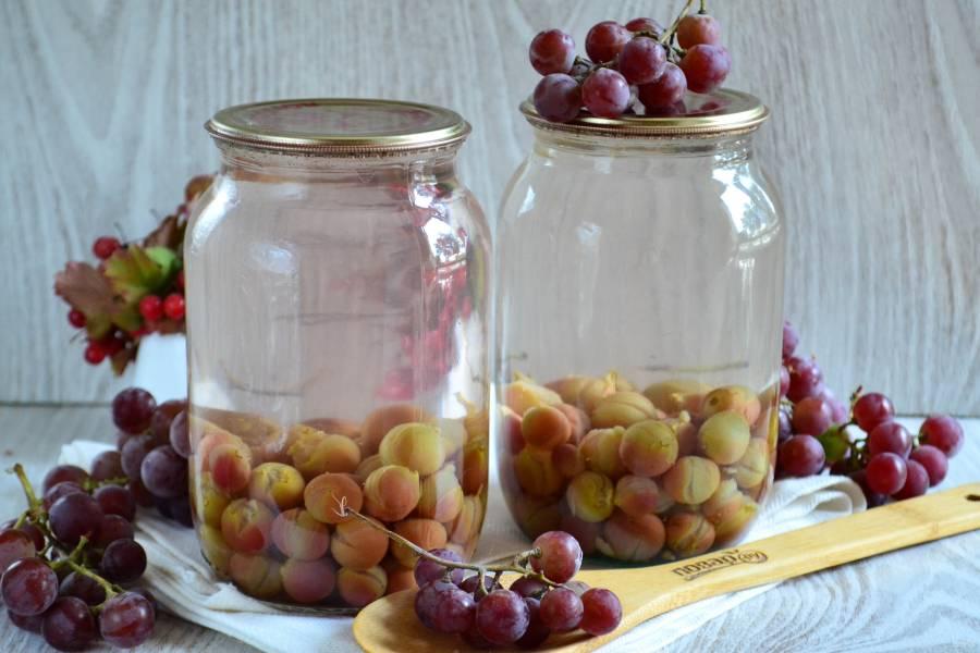 Простые рецепты приготовления компота из винограда на зиму в домашних условиях на 3-литровые банку