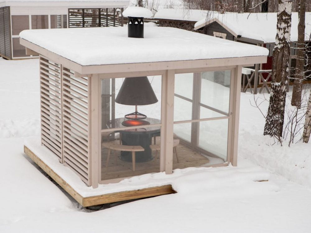 Зимние беседки: идеи для дачного отдыха в холодное время года