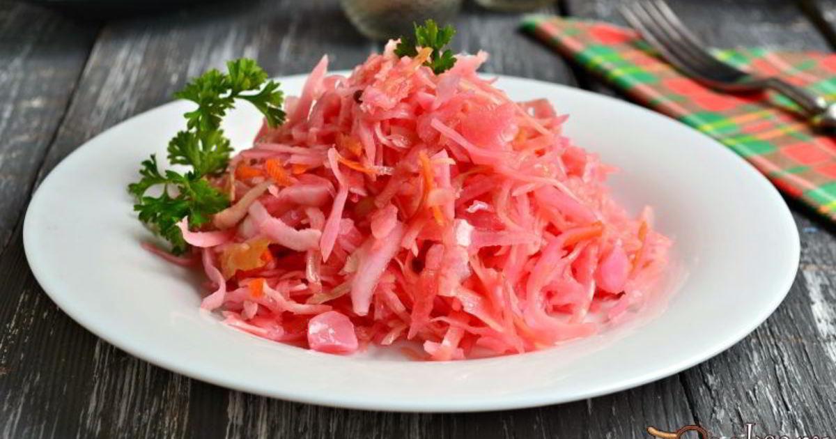 Рецепты быстрой приготовления маринованной капусты со свеклой на зиму с уксусом и без