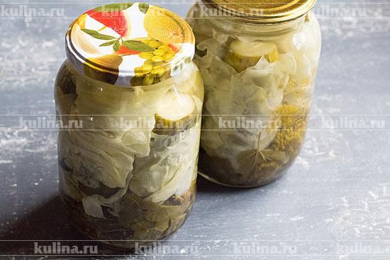 Салат из огурцов и капусты на зиму - оригинальное сочетание: рецепт с фото и видео
