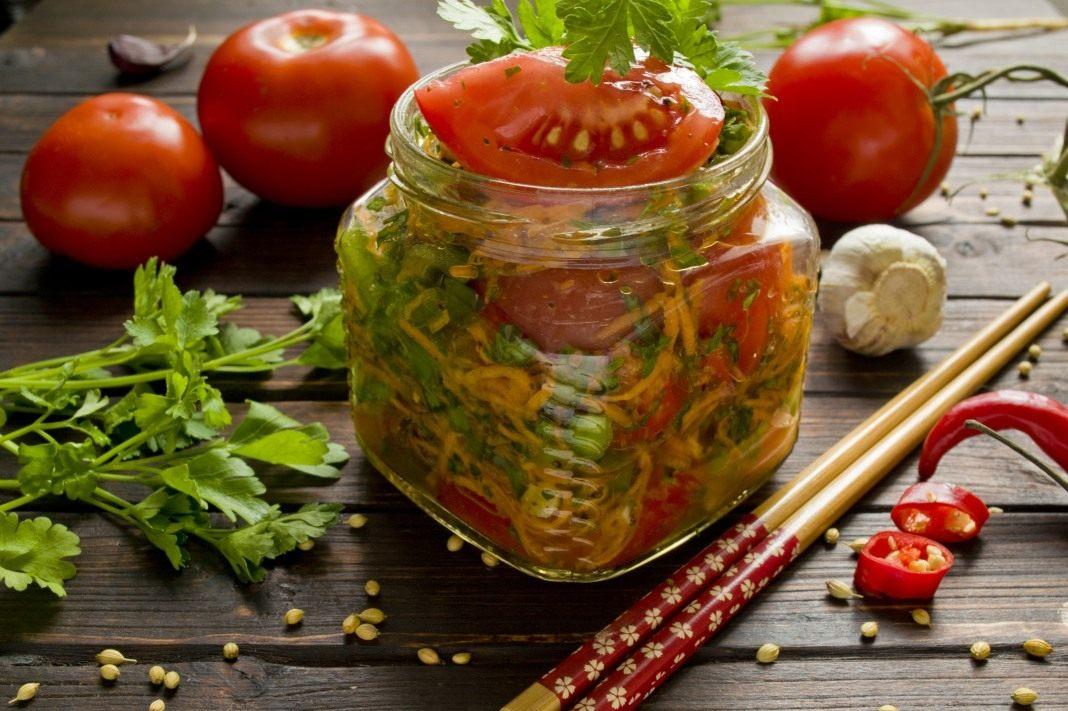 Помидоры по-корейски быстрого приготовления – 5 самых вкусных рецептов