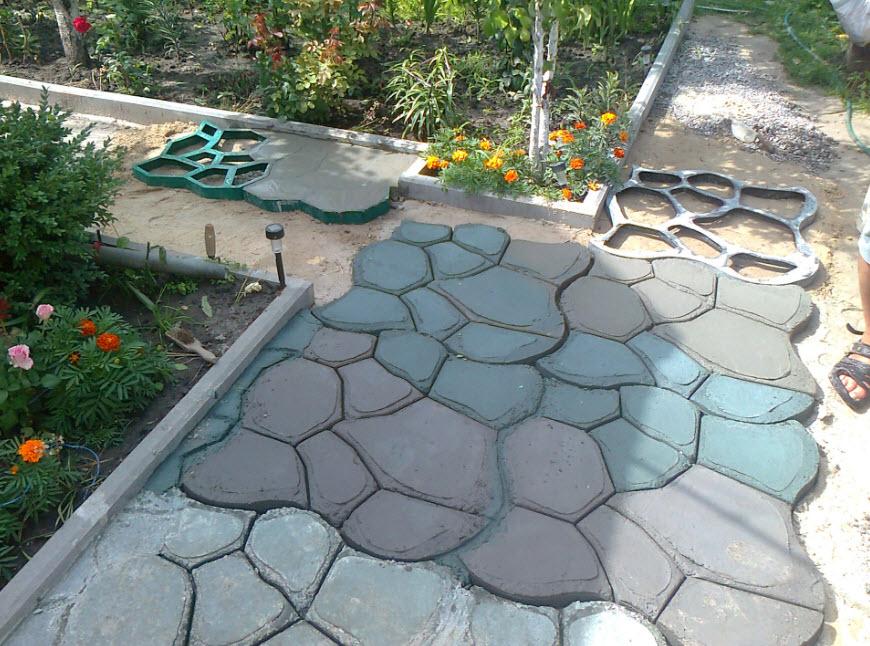 Садовые дорожки из бетона своими руками - пошаговая инструкция с фото - строительство и ремонт