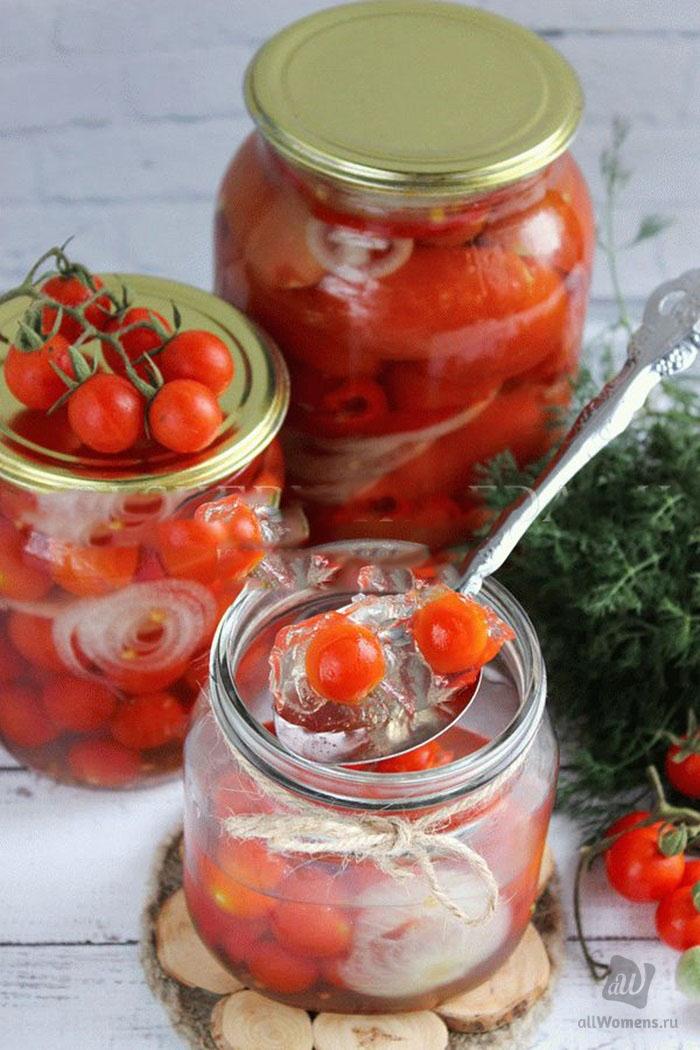 Помидоры в желатине (желе) на зиму: обалденные рецепты с фото пошагово