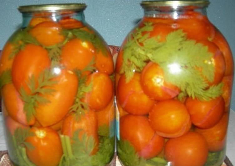 Помидоры на морковной ботве на зиму
