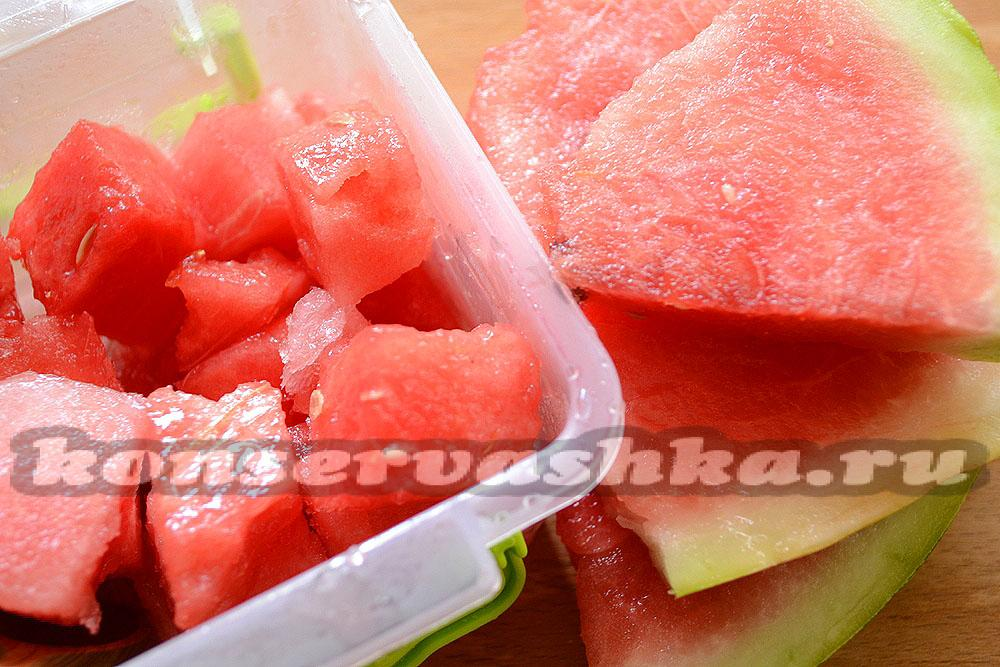 Как заморозить арбуз на зиму в морозилке в домашних условиях