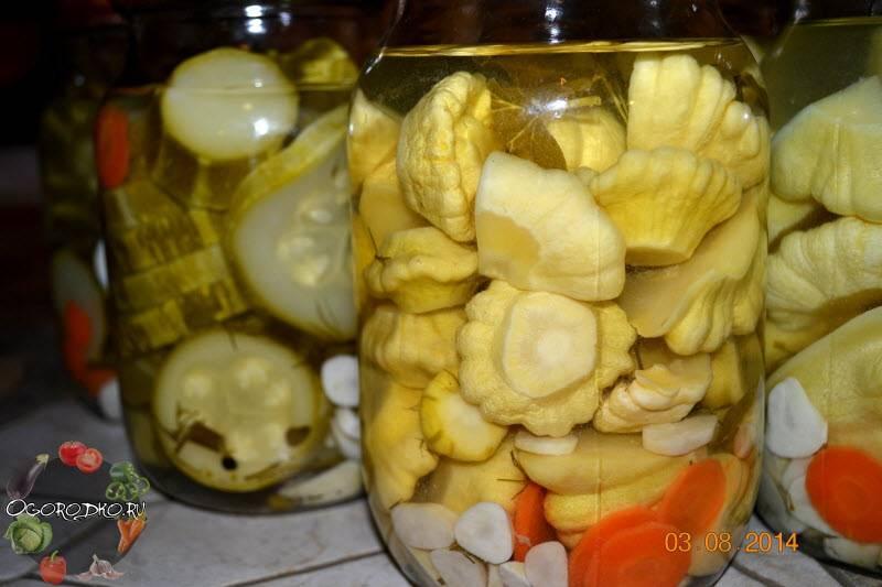 Маринованные патиссоны - лучший рецепт на зиму
