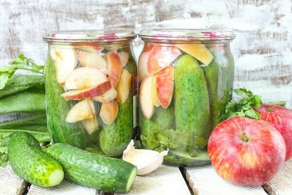 Рецепты консервированных огурцов в яблочном соке на зиму - всё про сады