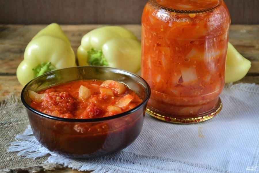 Лечо помидор лук морковь болгарский перец на зиму рецепт с фото пошагово - 1000.menu