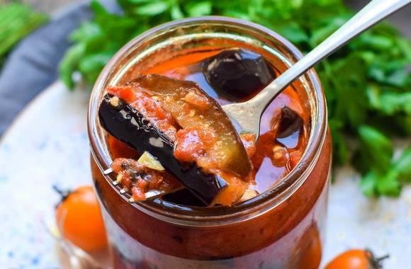 Салат тещин язык из баклажанов на зиму, два рецепта